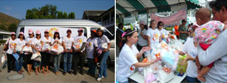 ONYX Hospitality Group Foundation & Raks Thai Foundation Flood Relief Volunteers in Lopburi